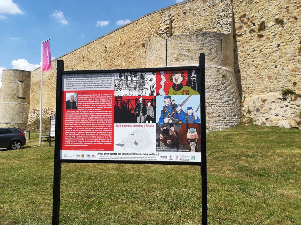 Parcours autour de l'œuvre de Tardi - Tardi pose ses planches à Falaise