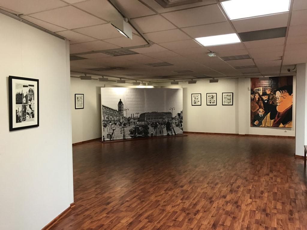 Tardi - Nestor Burma - Tardi pose ses planches à Falaise