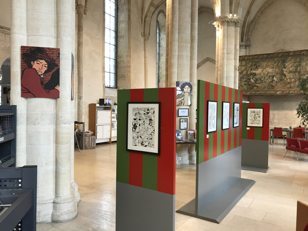 Tardi - Adéle Blanc-Sec - Tardi pose ses planches à Falaise